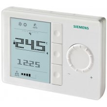 Room thermostat, AC 230 V, for fan coil units and universal applications, 7-day time switch, horizontal