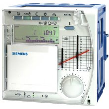 Heating controller for boiler temperature control for modulating or 2-stage burners with d.h.w. heating
