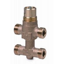 3-port seat valve with bypass, external thread for Conex®, PN16, DN15, kvs 2.5
