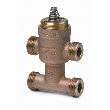 3-port seat valves with T-bypass, external thread, PN16, DN10, kvs 1