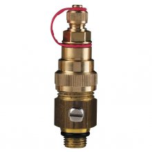 Combined P/T port and drain ball valve with red ribbon