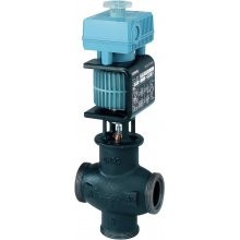 Mixing/2-port control valve, threaded, PN16, DN25, kvs 8.0, AC 24 V, DC 0/2...10 V, 4...20 mA, media cont. mineral oils