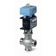 Mixing/2-port magnetic control valve, external thread, PN16, DN20, kvs 5, AC 24 V, DC 0/2...10 V / 4...20 mA